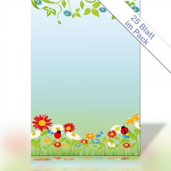 Motiv-Briefpapier SPRING FLOWERS DIN A4 90g/m²