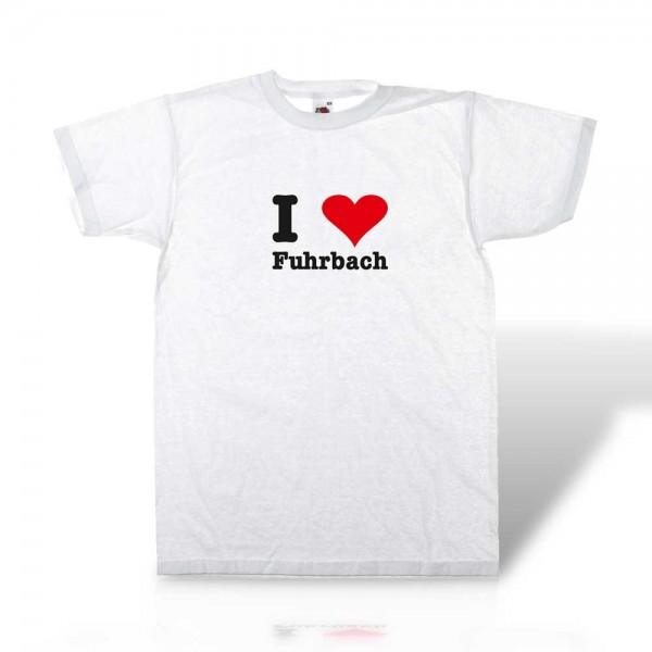 "T-Shirt für Erwachsene ""I Love Fuhrbach"""