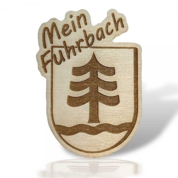 "Kühlschrankmagnet ""Mein Fuhrbach"" aus Sperrholz"