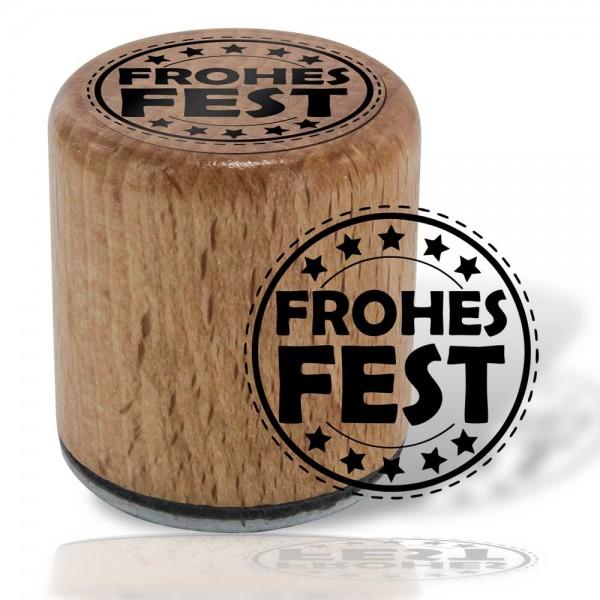 Hölzli Motiv Stempel - Frohes Fest