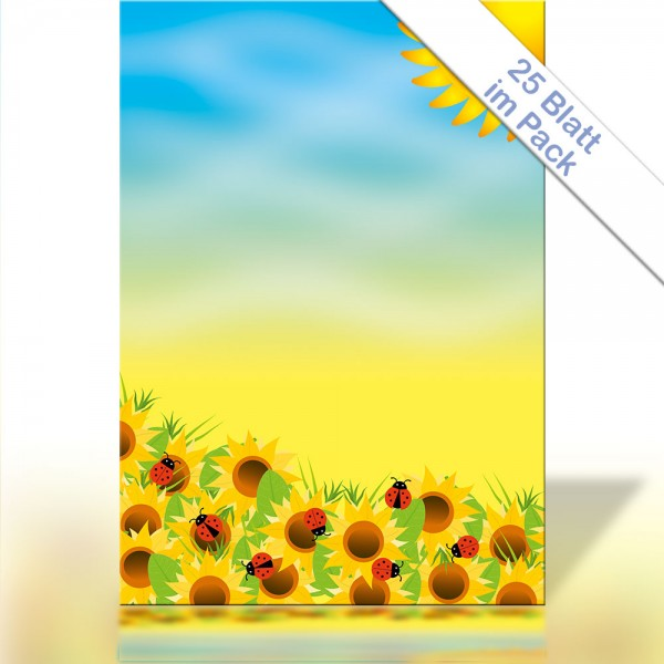 Motiv-Briefpapier SUNFLOWERS DIN A4 90g/m²