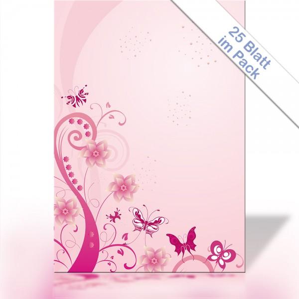 Motiv-Briefpapier PINK SWIRL DIN A4 90g/m²