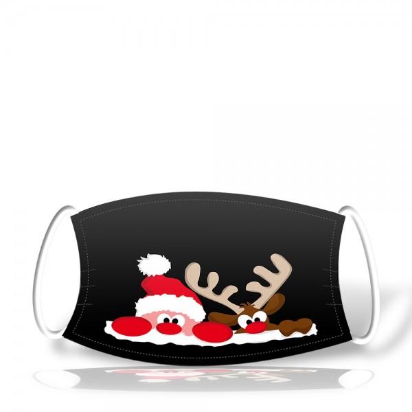 Polyestermaske X-MAS-2 2-lagig im Weihnachts-Design