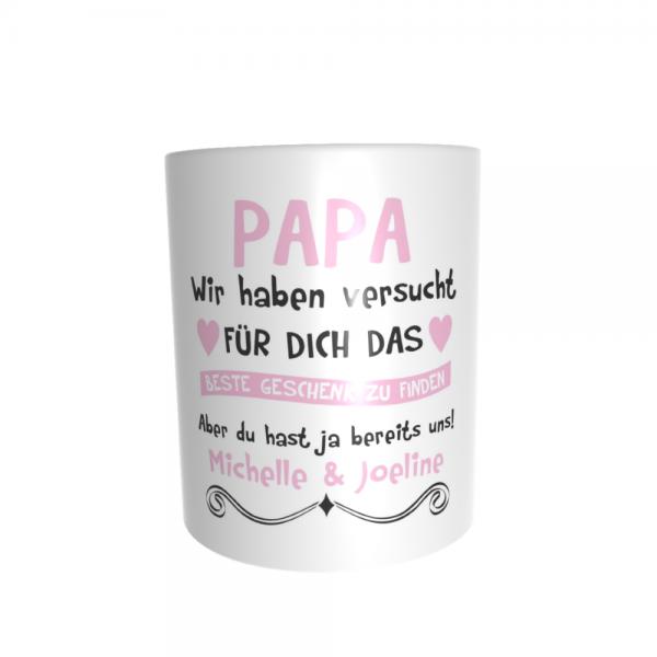 Papa, wir haben versucht für Dich das besteGeschenk zu finden... rosa