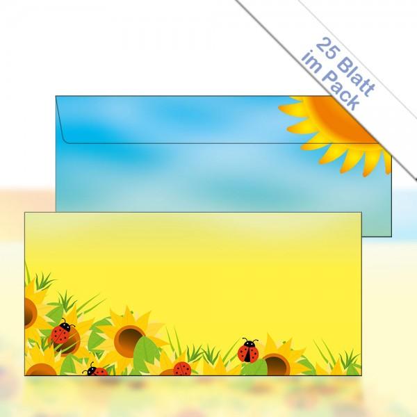Motiv-Briefhülle SUNFLOWERS DIN Lang 22x11 cm 90g/m²