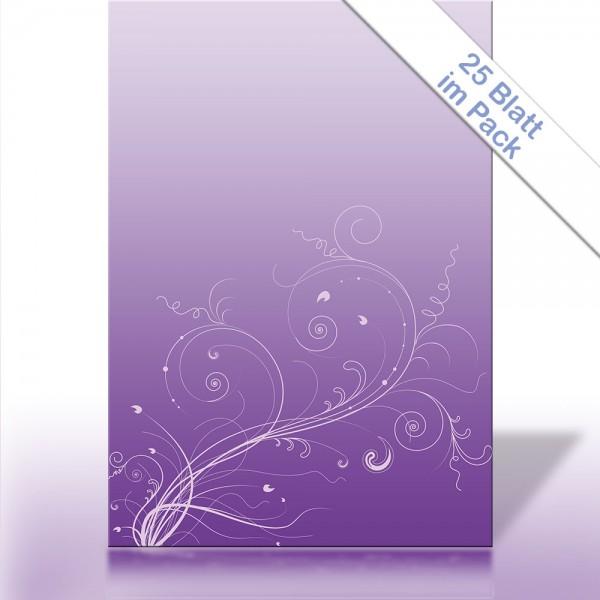 Motiv-Briefpapier RANKE AUF VIOLETT DIN A4 90g/m²