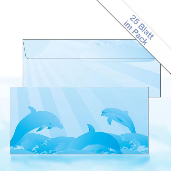 Motiv-Briefhülle BLUE DOLPHIN DIN Lang 22x11 cm 90g/m²