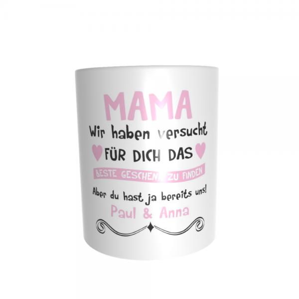 Mama, wir haben versucht für Dich das beste Geschenk zu finden... rosa