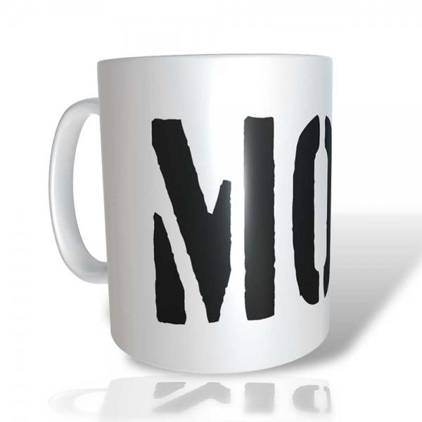 """Bedruckte Tasse """"MOIN"""" mit Wunschname"""