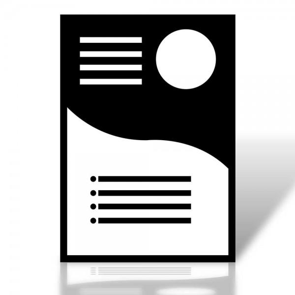 Flyer DIN A6 Quer (14,8 cm x 10,5 cm), beidseitig bedruckt, 300g hochwertiger Qualitätsdruck