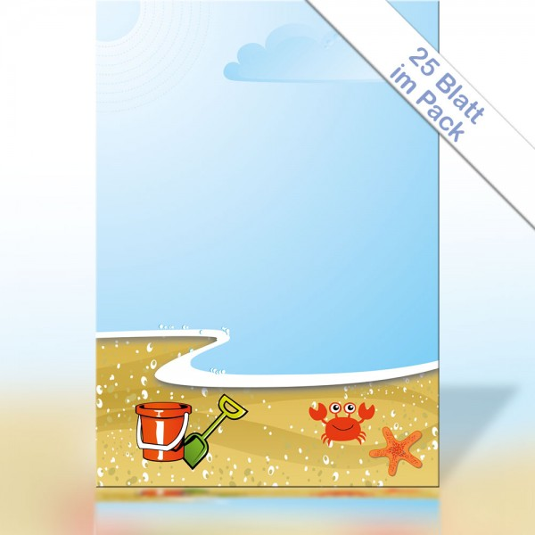 Motiv-Briefpapier ON THE BEACH A4 90g/m²
