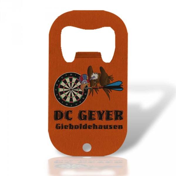 """Edelstahl-Flaschenöffner,""""DC Geyer Gieboldehausen"""""""