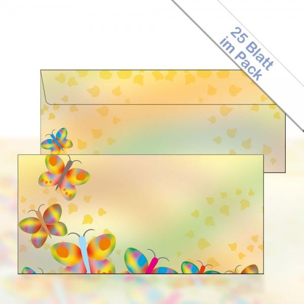 Motiv-Briefhülle RAINBOW BUTTERFLIES DIN Lang 22x11 cm 80g/m²