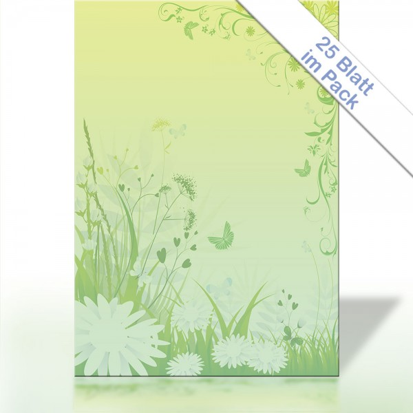Motiv-Briefpapier GREEN SPRING AND SUMMER DIN A4 90g/m²