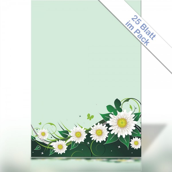 Motiv-Briefpapier SPRING FLOWER GREEN DIN A4 90g/m²