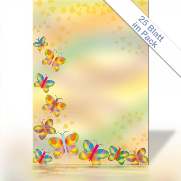Motiv-Briefpapier RAINBOW BUTTERFLIES DIN A4 90g/m²