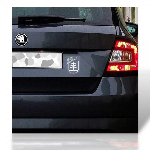"Autoaufkleber transparent ""Mein Fuhrbach"""