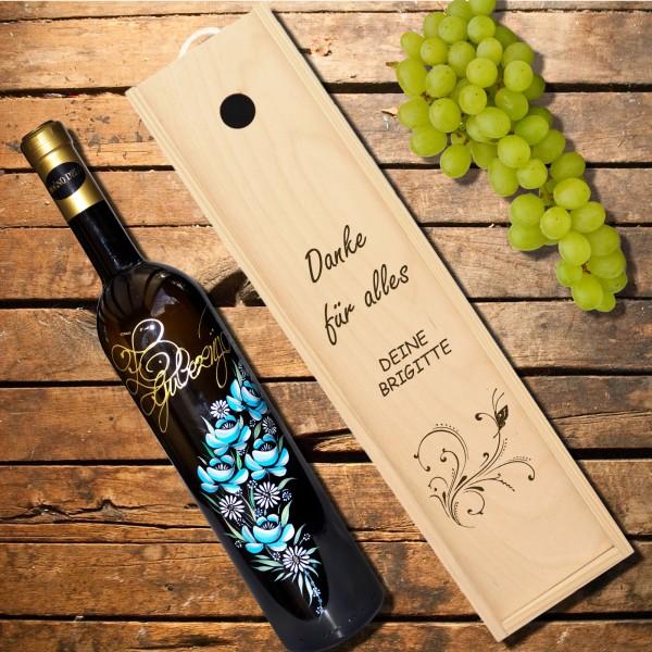 Weinkiste, Geschenkkiste, aus Fichtenholz 38 cm